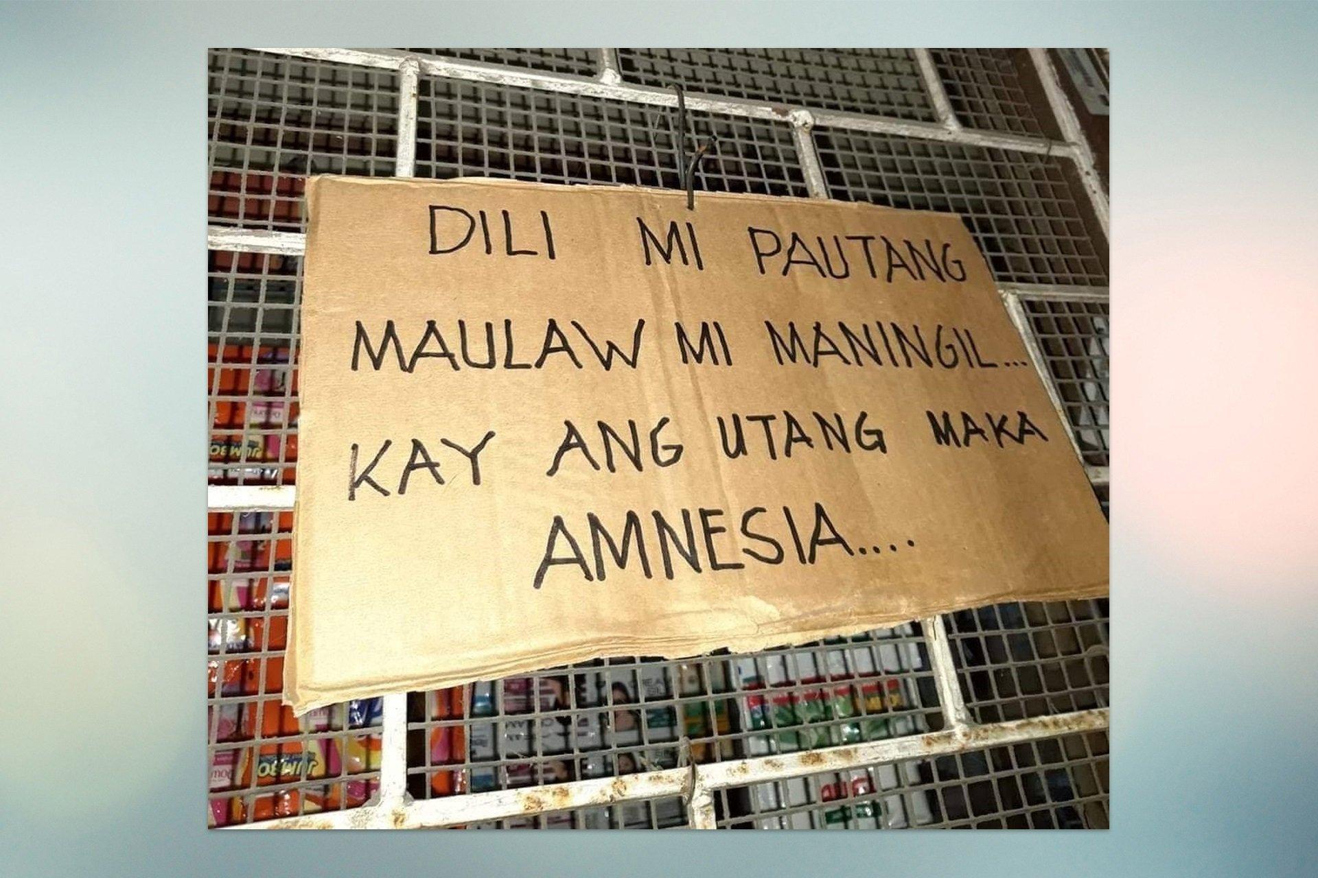 Funny Signages Bawa Utang