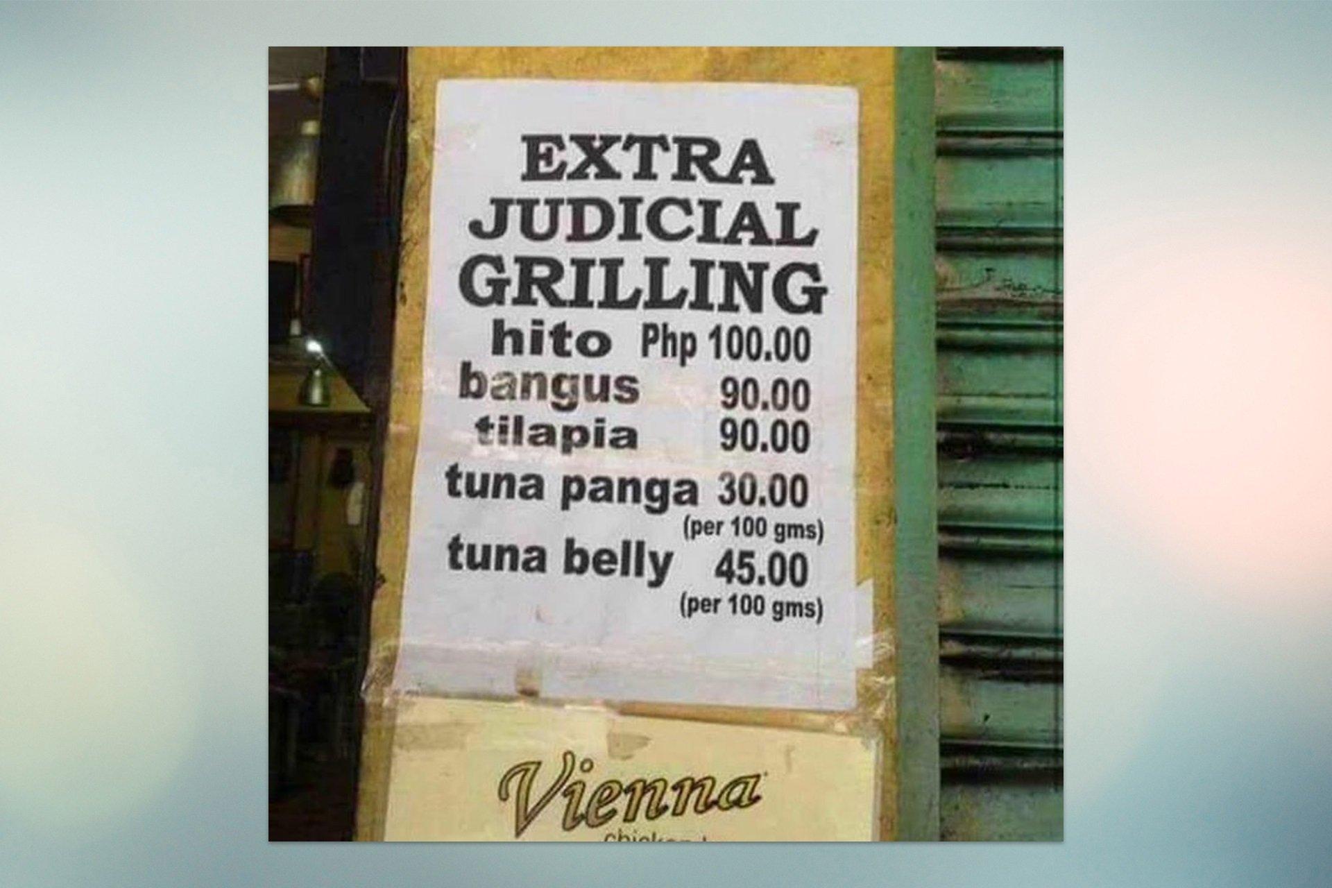 Funny Signages Extrajudicial grilling