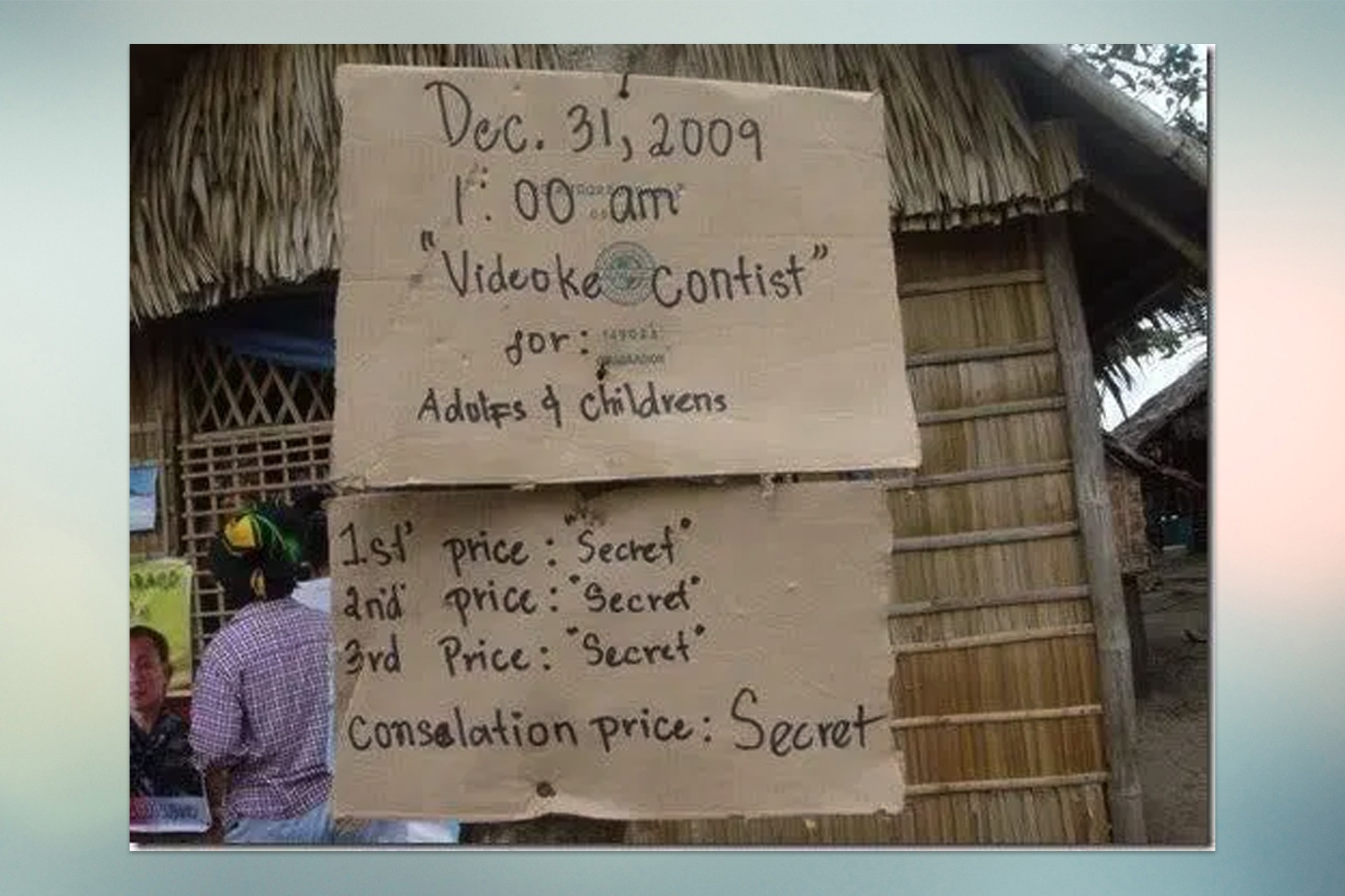 Funny Signages Videoke contists